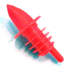 Spill-Stop Manufacturing Company Medium Red Plastic Pourer