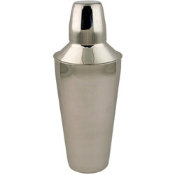 American Metalcraft Stainless Steel Cocktail Shaker with Strainer and Jigger Cap