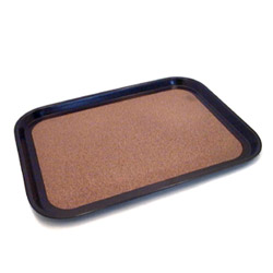 The Vollrath Company Small Brown Rectangle Cork-Lined Laminated Serving Tray