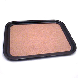 The Vollrath Company Medium Brown Rectangle Cork-Lined Laminated Serving Tray
