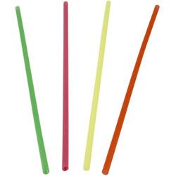 """WNA Comet Assorted Slim Neon Straws, 8"""""""