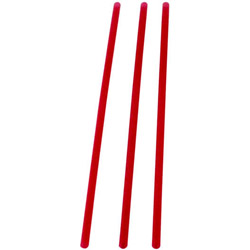 WNA Comet Slim Red Straws, 8""
