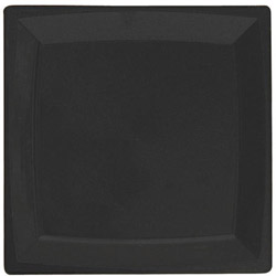 "WNA Comet Disposable 6.75"" Plastic Plates, Black, 14 Packs of 12 Plates"