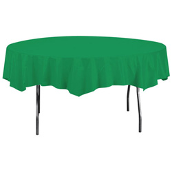 Creative Converting Tablecover Octagonal Green 82 in