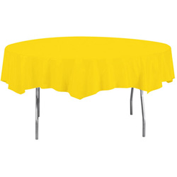 Creative Converting Tablecover Octagonal Yellow 82 in