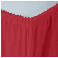 Creative Converting Tableskirt Red 14'