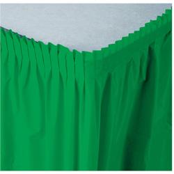 Creative Converting Tableskirt Green 14'