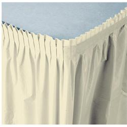 Creative Converting Tableskirt Ivory 14'