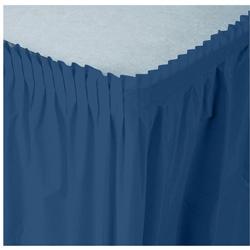 Creative Converting Tableskirt Navy 14'