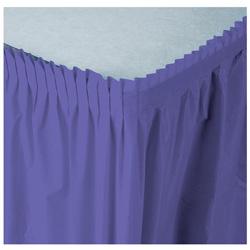 Creative Converting Tableskirt Purple 14'