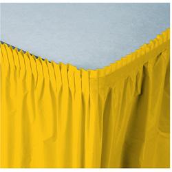 Creative Converting Tableskirt Yellow 14'