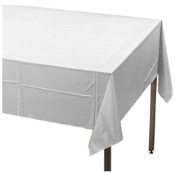 Creative Converting Tablecover White 54 in x 108 in