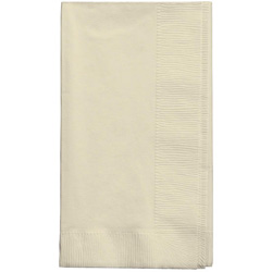 Creative Converting Napkin 2-Ply Ivory 15 in x 17 in