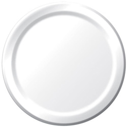 Creative Converting Plate Paper White 10 in