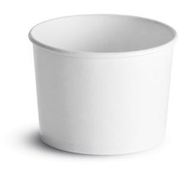 Huhtamaki Paper Food Container, 12 OZ, White