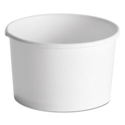 Huhtamaki Squat Paper Food Container, Streetside Design, 8-10oz, White, 50/Pack, 20/CT