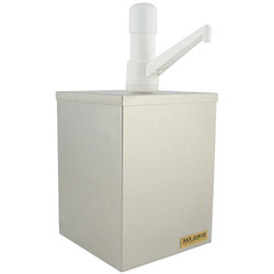 San Jamar Condiment Dispenser Box with Pump for #10 Condiment Can