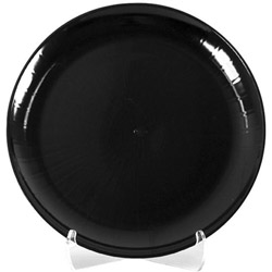 "WNA Comet Caterline 18"" Black Round Tray"