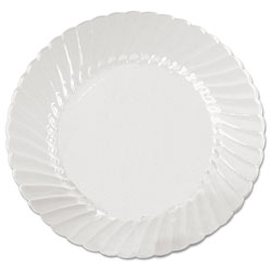 "WNA Comet Disposable 6"" Plastic Plates, Clear, Case of 180"