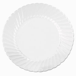 "WNA Comet Disposable 10.25"" Plastic Plates, Clear, Case of 144"