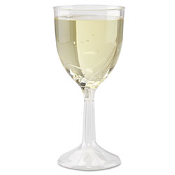 WNA Comet Classicware One-Piece Wine Glasses, 6 oz., Clear, 10/Pack