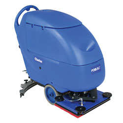 Clarke Focus® II L20 Compact Autoscrubber, 130 Ah Wet Batteries, Onboard Charger, Pad Holder and Chemical Mixing System