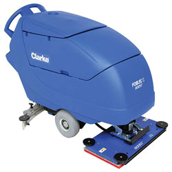 Clarke FOCUS® II BOOST® 32 Mid-size Autoscrubber, 32 242 Ah Wet Batteries, Onboard Charger, Pad Holder and Chemical Mixing System