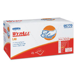 WypAll® Professional Cleaning Towel, White, 45/Box