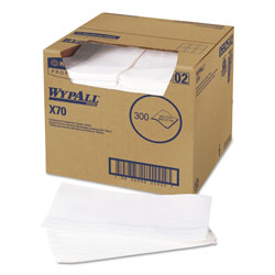 WypAll® X70 Cleaning Wipes, White, Case of 300
