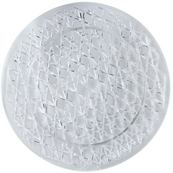 Maryland Plastics 1300 Round Crystal Cut Tray, 13""