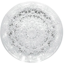 Maryland Plastics 1501 Round 4 Section Crystal Cut Tray, 15""