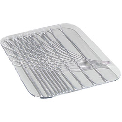 Carlisle 6450 15 x 10.75 Clear Rectangle Festival Tray