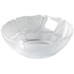 Carlisle Foodservice Products N6904 Clear Petal Plastic Bowls, 6""