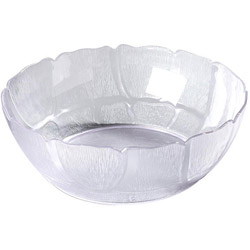 Carlisle Foodservice Products N6914 Clear Petal Plastic Bowls, 12""