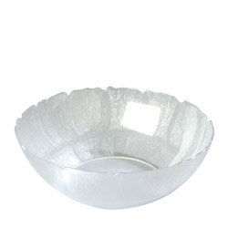 "Carlisle Foodservice Products 15"" Clear Petal Bowl"