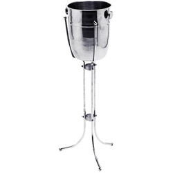 Johnson-Rose Chrome Wine Stand