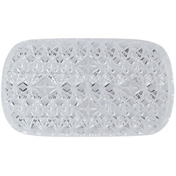 "Maryland Plastics 0712 Rectangle Crystal Cut Tray, 12 1/2"" x 7 1/2"""