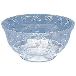 Maryland Plastics 1886 Small 8 Quart Crystal Cut Plastic Punch Bowl