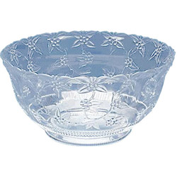 Maryland Plastics 1896 Large 12 Quart Crystal Cut Plastic Punch Bowl