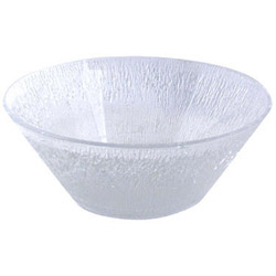 "Maryland Plastics 4500 Icelandic 16 Ounce Clear Plastic Bowl, 6"" x 2 1/4"""