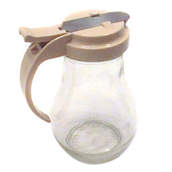 Traex 14 Ounce Glass Server with Tan Top