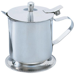 The Vollrath Company 5 Ounce Stainless Steel Hinged Lid Creamer