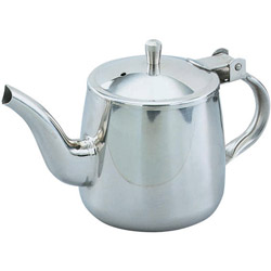 The Vollrath Company 10 Ounce Stainless Steel Gooseneck Teapot