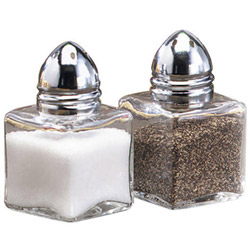 Tablecraft 1/2 Ounce Mini Cube Salt and Pepper Shakers