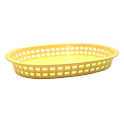Tablecraft Large Yellow Plastic Oval Basket