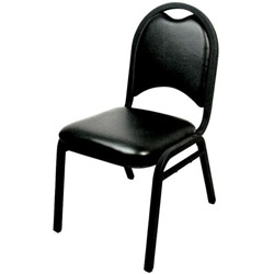Challenger Black Deluxe Stack Chair