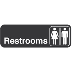 "Traex ""Restrooms"" Sign"
