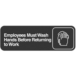 "Traex ""Employees Must Wash Hands Before Returning to Work"" Sign"