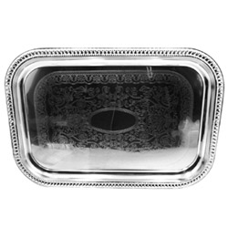 Misc Imports Oblong Chrome Tray