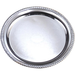 "American Metalcraft 12"" Round Chrome Tray"